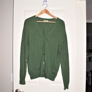 Cherokee Green Button Down Sweater/ Cardigan